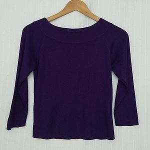 LOFT 100% Silk 3/4 Sleeve Top, EUC
